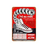 Converse All Stars Vintage Aluminum Metal Signs Tin Plaques Wall Poster For Garage Man...