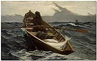 番号によるDiyペイント番号による絵画WinslowHomer漁師と大人のためのボートボート新しい宿泊施設子供のためのウェディングギフト初心者のための