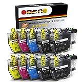 OBENO - 2 Sets 2 BK - LC3211 LC3213 Paquete de 10 Cartuchos de Tinta Compatibles para Brother LC3211 MFC-J890DW, MFC-J895DW, DCP-J772DW, DCP-J774DW, DCP-J572DW(4 Negro, 2 Cian, 2 Magenta, 2 Amarillo)