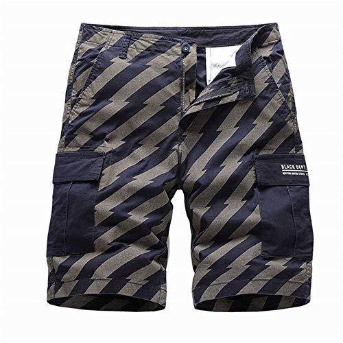 MCSZG Pantaloncini Cargo da Uomo Corti Pantaloncini Militari Militari Pantaloncini Casual da Uomo in Cotone Allentato da Lavoro Casual Pantaloni Multi Tasche da Uomo