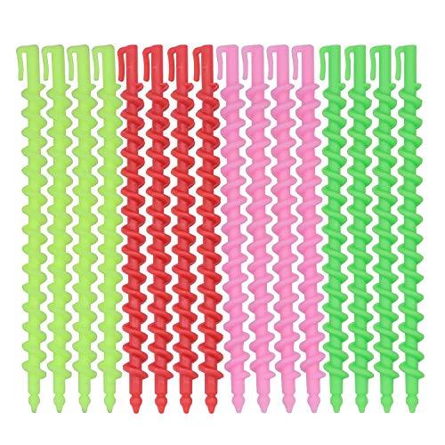 40 Piezas Rulos de Plástico en Espiral Largo