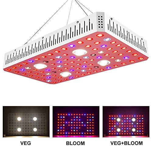 2000W LED Wachsen Lichter,2COB Imitation Sonnenlicht + LED,Für Zimmerpflanzen Veg and Bloom Full Spectrum Geeignet Für Grow Zelt (Dual Chip 20W LED)