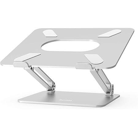 BoYata ノートパソコンスタンド タブレットスタンド PCスタンド 高さ/角度調整可能 姿勢改善 腰痛/猫背解消 折りたたみ式 ノートPCスタンド 滑り止め アルミ合金製 Macbook/Macbook Air/Macbook Pro/iPad/ノートPC/ 液タプなど17インチまでに対応 BST-10(シルバー)……