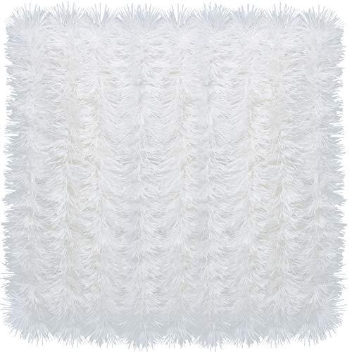 eBoot 32,8 Fuß Glänzende Lametta Girlande Weihnachten Metallisch Lametta Girlande Hängende Dekoration für Weihnachtsbaum Kranz Hochzeit Party Lieferungen (Weiß)