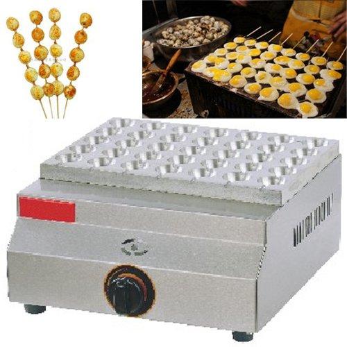 LPG Gas Fried Quail Eggs on a Stick Oven Baker Maker Machine Iron Mold