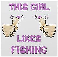 ブロンドDesignsこの女の子が好きだwith thumbs–この女の子は釣りが好きだ–グリーティングカード Set of 12 Greeting Cards