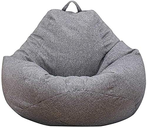 Classic Bean Bag Sofa Chairs (Include Filler), Lazy Lounger Storage Chair Back Large for Adults and Kids Home Garden Lounge Living Room (Size : Large)