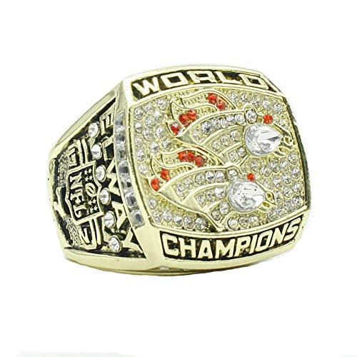 WSTYY Anillo de Campeonato, 1998 Anillo de Campeonato de los Denver Broncos Championship Ring Memorial Ring Champion Anillos Réplica,Without Box,12