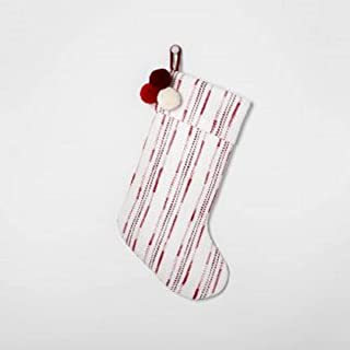 Holiday Stocking Red Stripe with Poms - Hearth & Hand with Magnolia