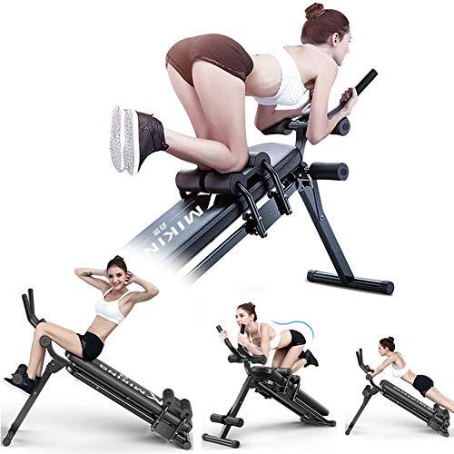 XIAODIANER Verstellbare Rückentrainer und Bauchtrainer, Innovativem 2-in-1 Faltbare Neigungsneigung für Heimtraining, Fitnessstudio