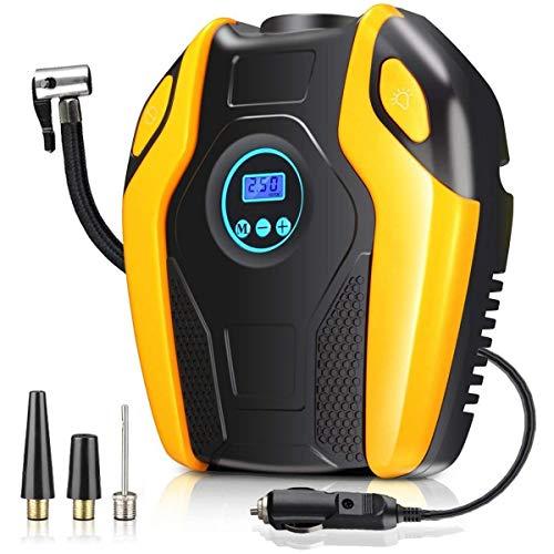 Bomba de compresor de aire portátil, Digital inflable del neumático del coche bomba, Portátil rueda del neumático...