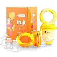 NatureBond Baby Food Feeder/Fruit Feeder Pacifier (2 Pack) - Infant Teething Toy Teether in Appetite...