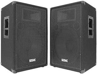 Seismic Audio - FL-15P (Pair) - Pro Audio PA/DJ 15