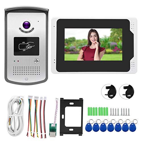 Impermeable Video Timbre Intercomunicador Noche Disparo Función Multi-Dispositivo Conexión Soporte para Tuya (Regulatorio Británico)