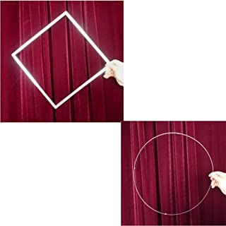 Enjoyer Circle to Square (Stainless Steel) Stage Magic Tricks Close Up Magic Props Comedy Street Magic Gimmick