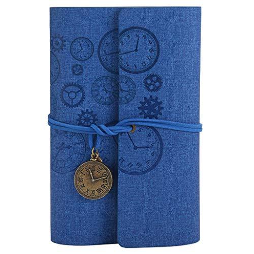 unknows Cuaderno de diario, cuaderno de escritura, vintage, tamaño A6, cuaderno de viaje, agenda de diario, oficina, escuela, papelería, regalo de estudiante
