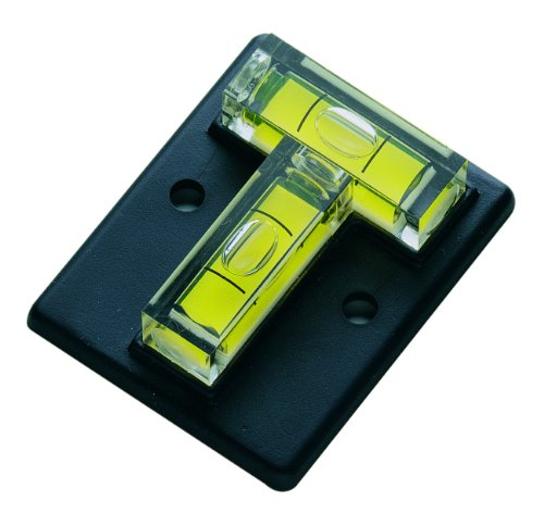 Metrica Miniwasserwaage 2 Libellen T-Form, schwarz, 34551