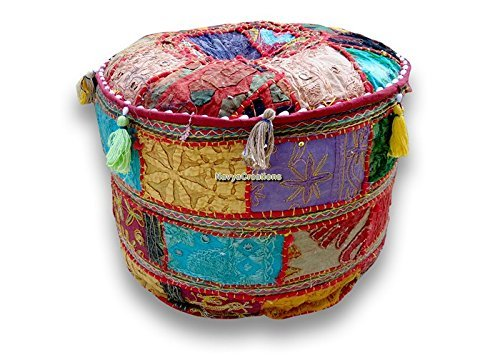 NANDNANDINI -Bohemian Patch Ranking TOP1 Work Pouf Traditional Vintag Ottoman SEAL limited product