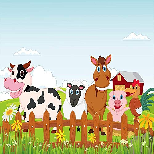 dsgsd Fundas nordicas Cama Colorido Vaca Oveja Caballo Cerdo Animal 150x220cm Juego de Ropa de Cama...