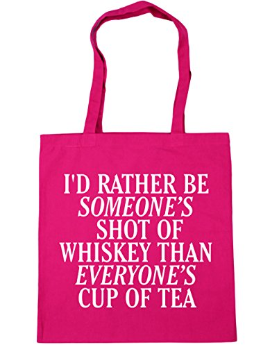 HippoWarehouse I'd rather be someone's shot of whiskey than everyone's cup of tea women's Tote Shopping Gym Beach Bag 42cm x38cm, 10 litres