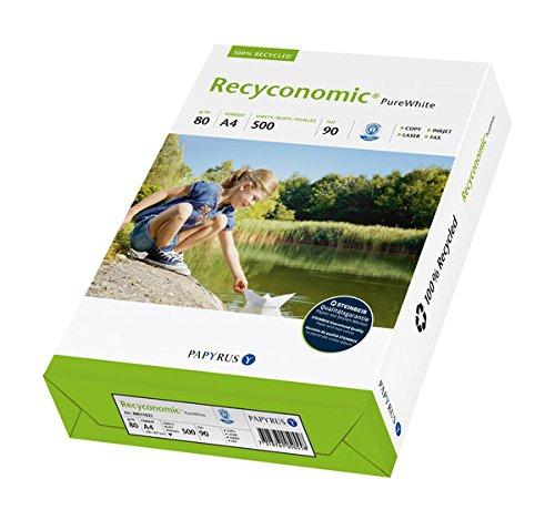 Kopierpapier Recyconomic Pure White, A4, Weißgrad 110 CIE, 80 g/qm, RC weiß