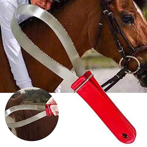 CVERY caballo sudor doble cara equipo de entrenamiento limpieza multiusos cómodo agarre al aire libre aseo vertimiento herramienta ecuestre para perros montar en acero inoxidable