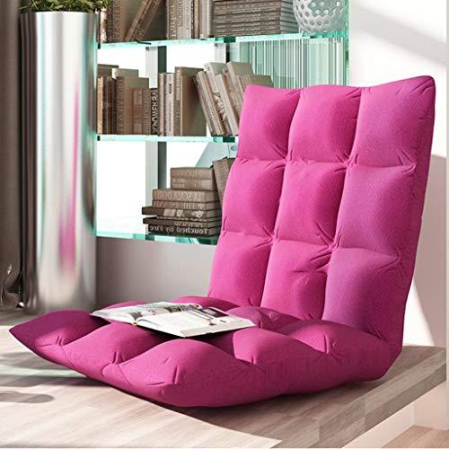 Dsrgwe Silla de Suelo Silla pequeña y Acolchada Plegable for el Piso con Respaldo Ajustable de 6 Posiciones Cojín Grueso for el Asiento Lazy Lounge Sofa (Color : B, Size : 40 * 78 * 10 cm)