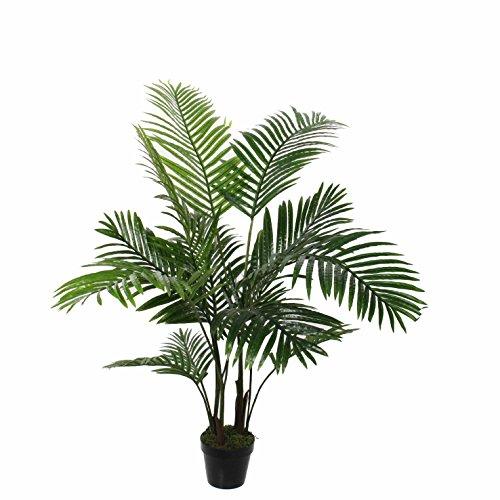 MICA Decorations 1026426Areca–Palmera en Maceta Verde–H120x d60cm Planta Artificial, Goma, Verde, 60x...