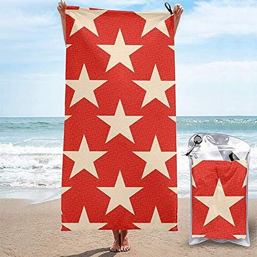 Tzshak Star Red Strandtuch Badetuch Print Pool Handtuch Schnelltrocknendes Badetuch für Junggesellenabschied