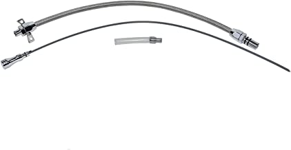 A-Team Performance Flexible Transmission Dipstick Compatible with Chevy Chevrolet GM 4L60E Firewall Mount