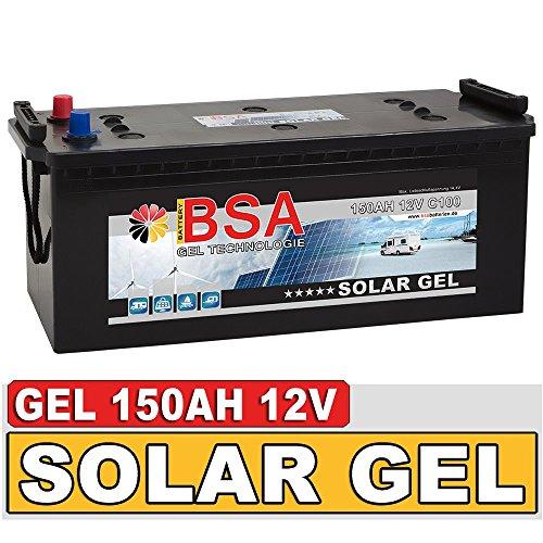 Preisvergleich Produktbild Gel Batterie 150Ah 12V Blei Gel Solarbatterie Wohnmobil Boot Versorgungsbatterie statt 120Ah 130Ah 140Ah