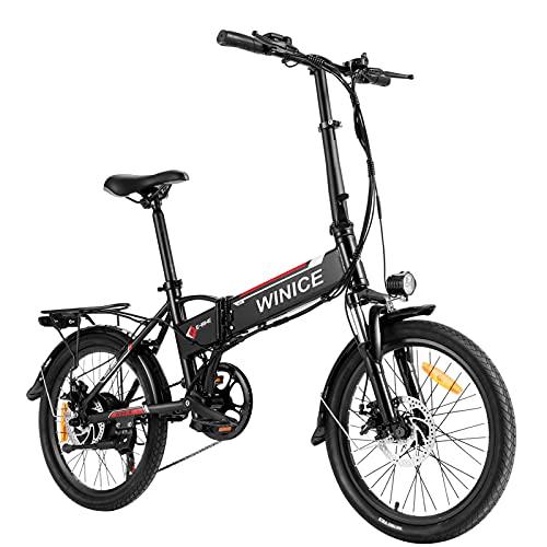 VIVI City E-Bike Damen und Herren, 20 Zoll Klapprad Elektrofahrräder, 350W Elektrisches Fahrrad mit herausnehmbarer 8 Ah Batterie, Shimano 7-Gang