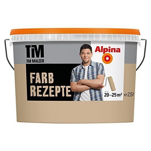 Alpina Wandfarbe Farbrezepte Tea Time matt (früher Caffe Latte) 2,5 L