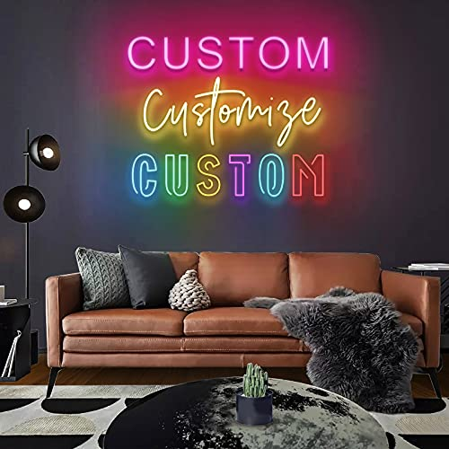 JadeToad Custom Neon Signs for Wall Decor Bedroom Wedding Party Man Cave Nursery Kid Room...