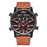 KAT-WACH Reloje para Hombre de Primeras Marcas de Lujo Deportivo Relojes Digitales Cronógrafo Reloj de Cuarzo Hombres Relojes a Prueba de Agua Reloj Hombre (Café café)