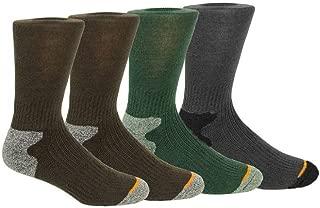 Weatherproof Premium 4-Pair Men's Wool Blend Crew Socks