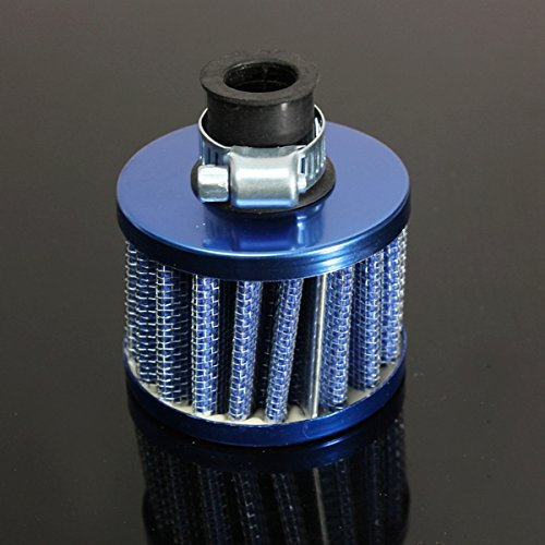JenNiFer Kit De Filtre D'Admission d'air Froid pour Huile Moteur 12Mm Reniflard De Cache-Évent - Bleu