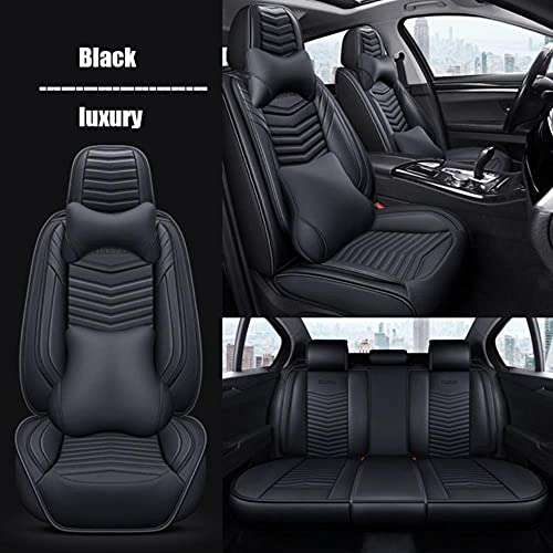 Coprisedili Auto Universale per Bmw E39 F10 E60 F30 E46 E36 X1 E84 E90 Serie 1 E87 F20 E46 Tuning E60 X5 E53 F30 E70 Accessori Auto-Lusso Nero