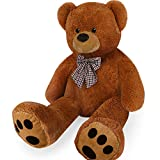 Deuba XL Teddy Bear Kids Soft Plush Teddies Valentines Gift Giant Big Child Toys Dolls Teddies Brown