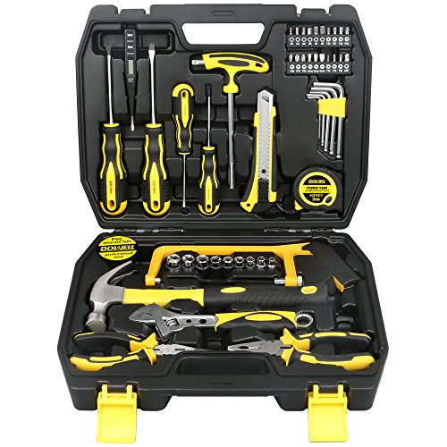 DOWELL 49 Piece Tool Set,Home Repair Hand Tool Kit with Plastic...