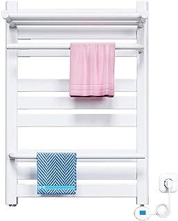 TJH Rack Inteligente de Secado a Temperatura Constante | Estante para Colgar en la Pared Perforado | Toallero Calefactor eléctrico, Antibacteriano, Adecuado para el hogar, baño, Blanco