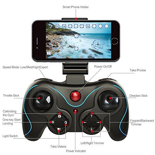 Drone pliable Holy Stone HS160 avec Caméra HD 720P WiFi FPV Vidéo en Temps réel - 2
