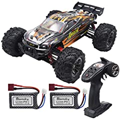 Total 2 pack 7.4V 1000mAh Lipo recharge battery. Uniquely designed & manufactured for high RC Racing performance. Increase the runtime of your RC unit with battery that will go the distance! the rc car for boys and adults will run for up to 10-15 min...