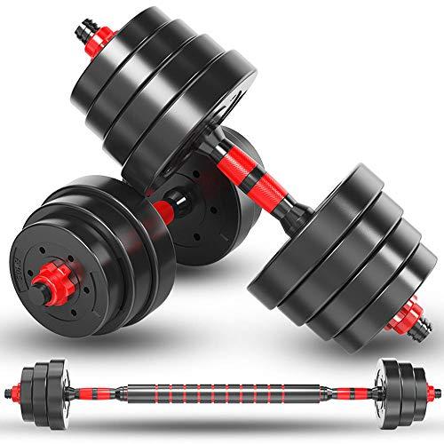 Haltères de remise en forme - Poids réglable jusqu'à 15 à 39 kg - Équipement de fitness pour homme et femme - Ensembles d'haltères de sport - 30 à 40 à 60 à 80 kg (convient pour les hommes et les femmes),10kg