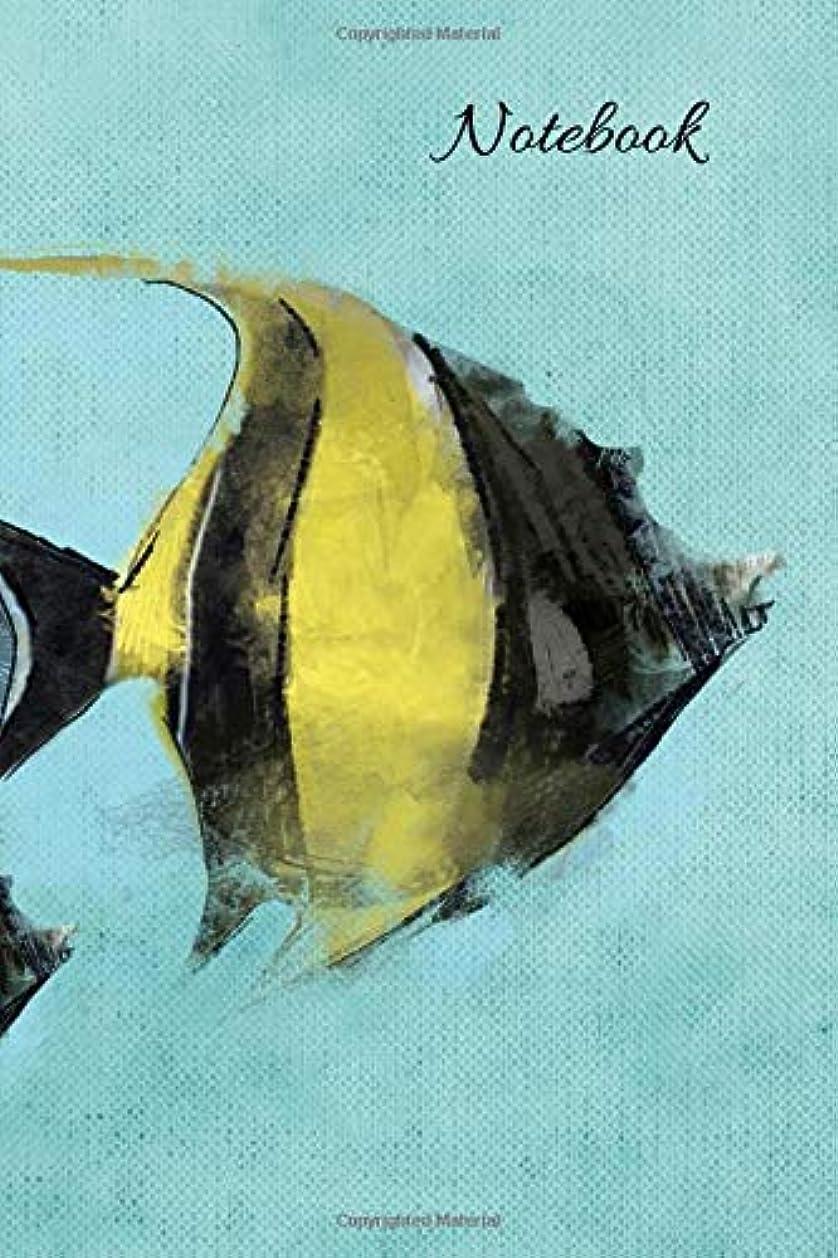 横に文化印刷するNotebook: Composition Notebooks for Fish Lovers - College Ruled Journal - Cute Animal Notebooks