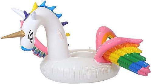 Sumpll Aufblasbare Schwimmende Reihe Farbe Pegasus Modellierpose Strandluftmatratze Poolliege Umweltfreundliches PVC-Material Geeignet Für Erwachsene Kinder (240X240x130cm)