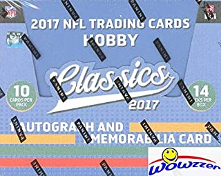 2017 Panini Classics NFL Football HUGE Factory Sealed HOBBY Box with (2) AUTOGRAPH/MEMORABILIA Cards! Look for RC & Auto's of PATRICK MAHOMES, Deshaun Watson, Mitch Trubisky & Many More! WOWZZER!