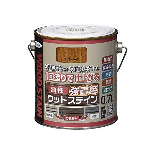 アサヒペン(Asahipen) 油性強着色ウッドステイン 0.7L ライトオーク
