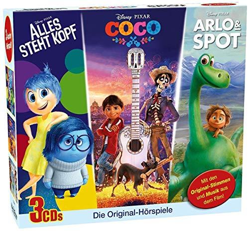 Disney 3 CD-Box - Arlo&Spot, Alles steht Kopf, Coco (Audio CD)