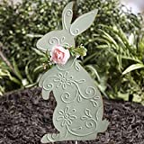 The Lakeside Collection Pastel Easter Bunny Garden Stake for Holiday Landscaping - Green
